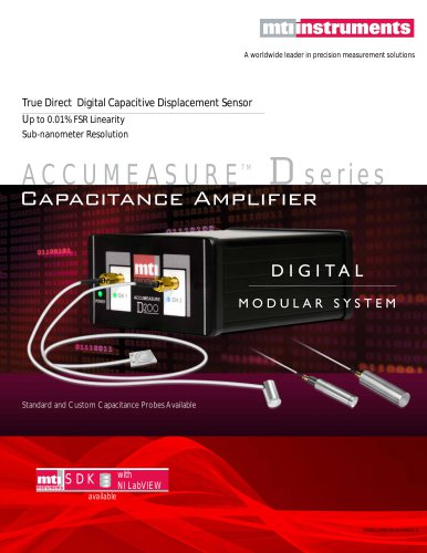 ACCUMEASURE CAPACITANCE PROBES - FOR DIGITAL ACCUMEASURE AMPLIFIER