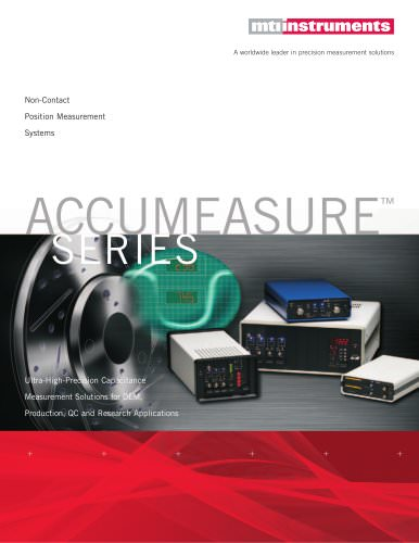 Accumeasure Series: Non-Contact Precision Measurement Systems