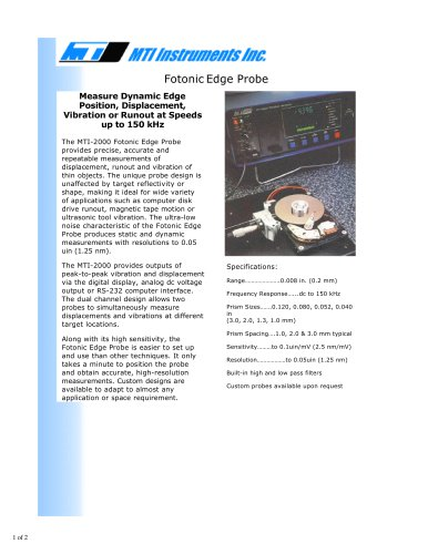 FOTONIC EDGE FIBER-OPTIC PROBE
