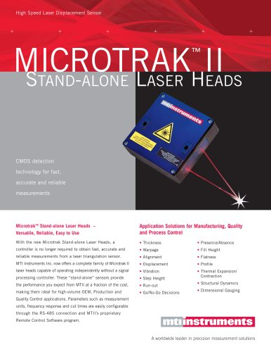 MICROTRAK II Stand-Alone Laser Heads