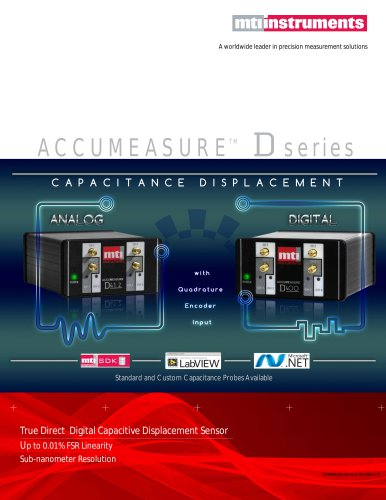 NEW Accumeasure D series - Digital Capacitance Measurement Sensors