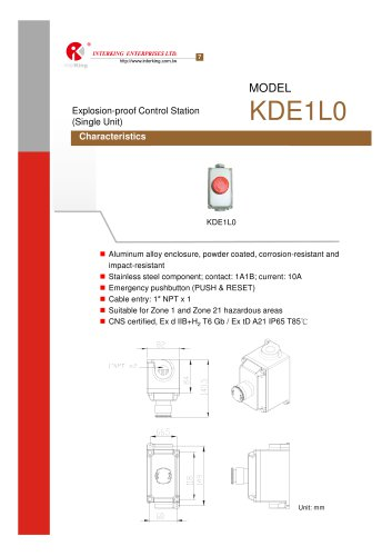 Safety Control-Control Station (KDE1L0)