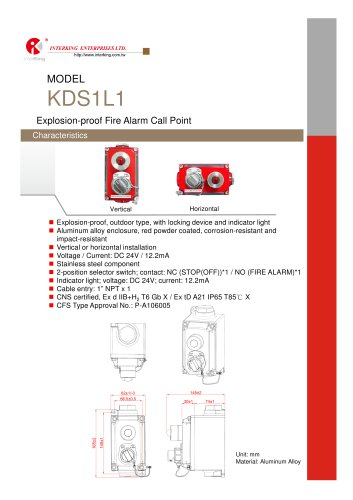 Safety Control- Fire Alarm Call Point (KDS1L1)
