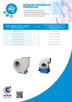 Polypropylene industrial extractor fans