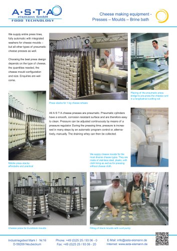 Presses-moulds-Brine bath
