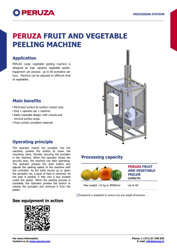 PERUZA FRUIT AND VEGETABLE PEELING MACHINE