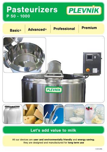 Pasteurizers P 50 - 1000