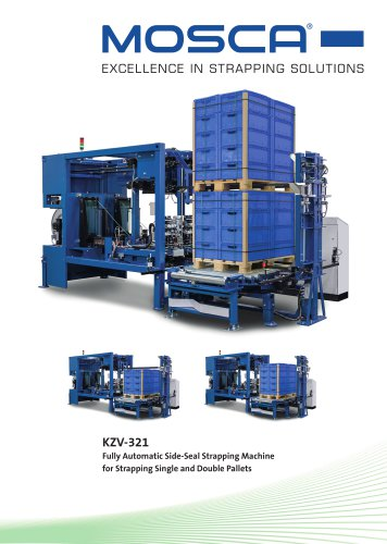 KZV-321 Fully Automatic Side-Seal Strapping Machinefor Strapping Single and Double Pallets