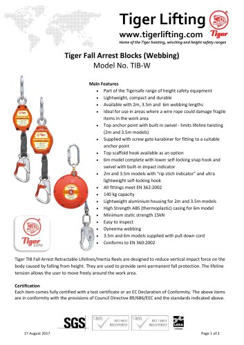 Tiger Fall Arrest Blocks
