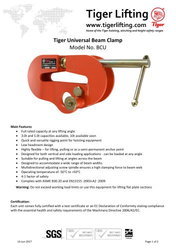 Tiger Universal Beam Clamp