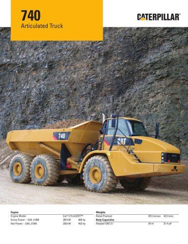 740 Articulated Truck Caterpillar Equipment PDF Catalogs