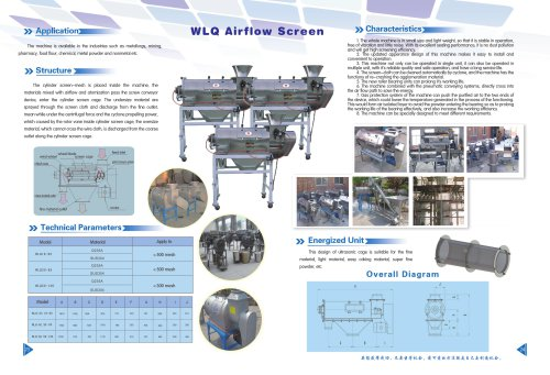 Weiliang CE WLQ airflow screener for food and chemical industry