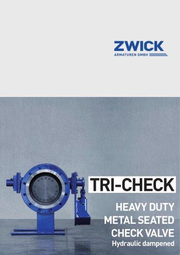 TRI-CHECK HEAVY DUTY METAL SEATED CHECK VALVE