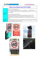 Radar speed limited sign SLD-LD650 - 2
