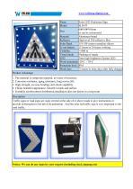 Solar LED Pedestrian Sign SLD-P3 - 1