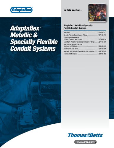 Adaptaflex Metallic Specialty Flexible Conduit Systems