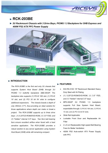 RCK203BE 2U chassis with PCI express backplane