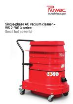 AC vacuum cleaner type WS2, WS3