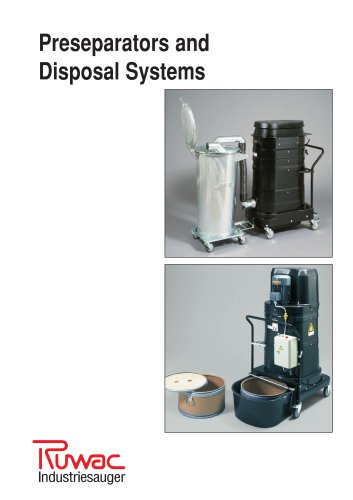pre-separators and disposal systems