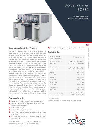 3-Side Trimmer BC 330