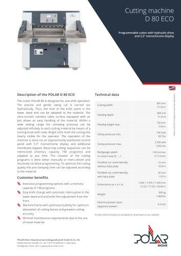 Cutting machine D 80 ECO