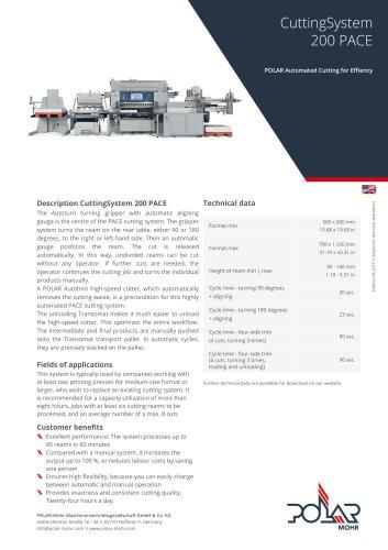 CuttingSystem 200 PACE