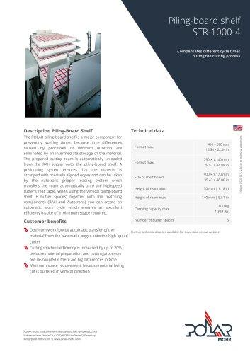 Piling-Board Shelf STR-1000-4