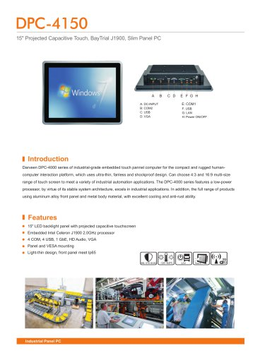 Darveen 15inch(4:3) Capacitive Touch Panel PC with Celeron J1900/DPC-4150