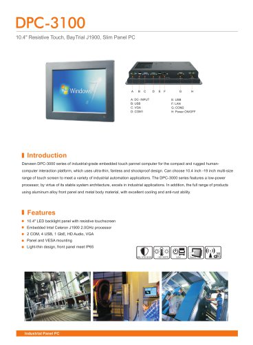 DPC-3100 Industrial Panel PC