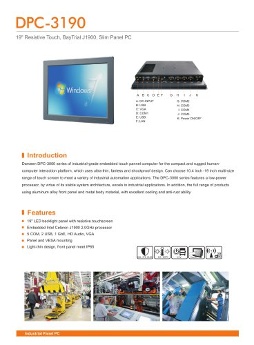 DPC-3190 Industrial Panel PC
