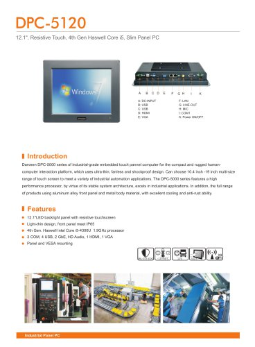 DPC-5120 Industrial Panel PC