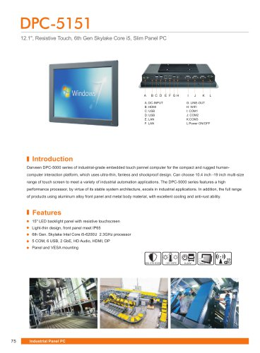 DPC-5151 Industrial Panel PC