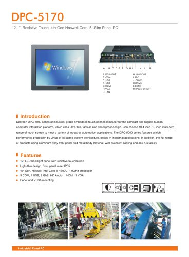 DPC-5170 Industrial Panel PC