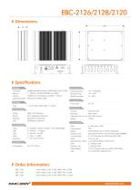 EBC-2126/2128/2120 Embedded Box PC - 2