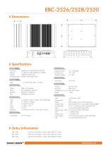EBC-2526/2528/2520 Embedded Box Computer - 2