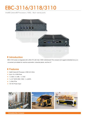 EBC-3116/3118/3110 Embedded Box PC