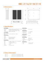 EBC-3116/3118/3110 Embedded Box PC - 2