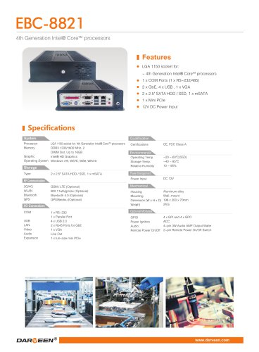 EBC-8821 Embedded Box PC