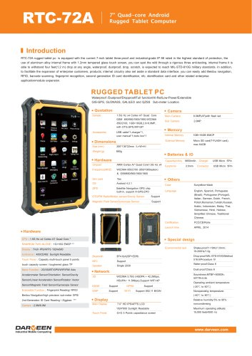 RTC-72A Rugged Tablet