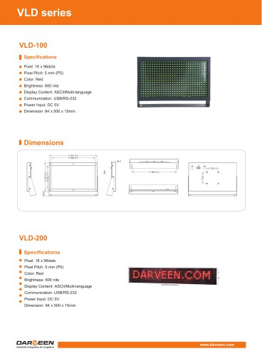 VLD-110-W Vehicle LED Display