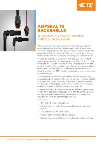 AMPSEAL 16 Backshells