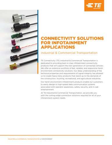 CONNECTIVITY SOLUTIONS FOR INFOTAINMENT APPLICATIONS