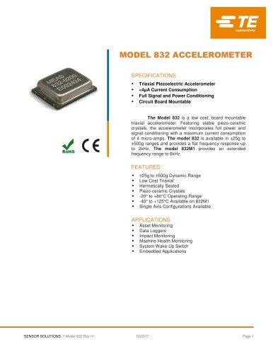 MODEL 832 ACCELEROMETER