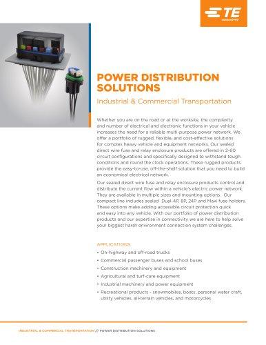 Power Distribution Fuse and Relais Enclosures
