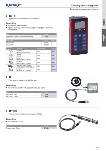 Force and pressure gauge systems
