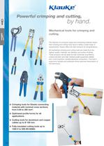 Mechanical pressing, crimping and cutting tools