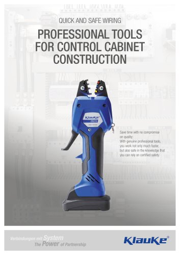 PROFESSIONAL TOOLS FOR CONTROL CABINET CONSTRUCTION