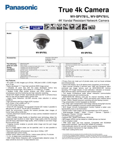 WV-SPV781L 4K Security Camera