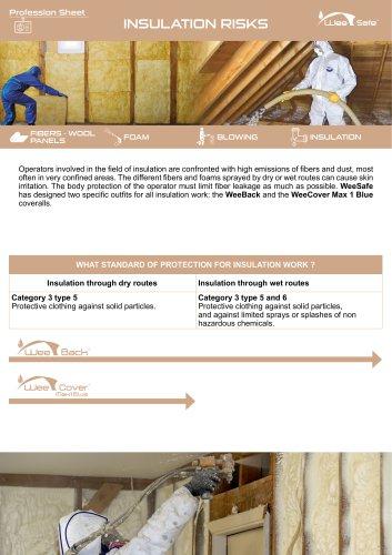 Profession Sheet -  Insulation risks