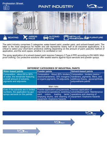 Profession Sheet - Paint Industry